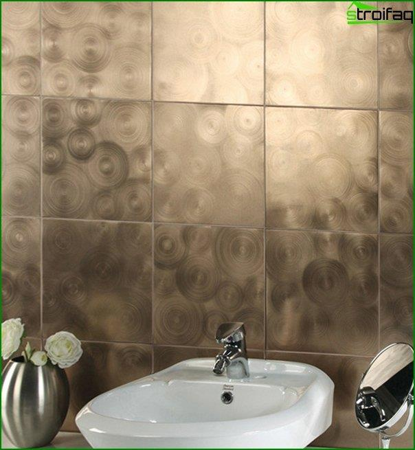 Tiles in the bathroom - self-laying - 1