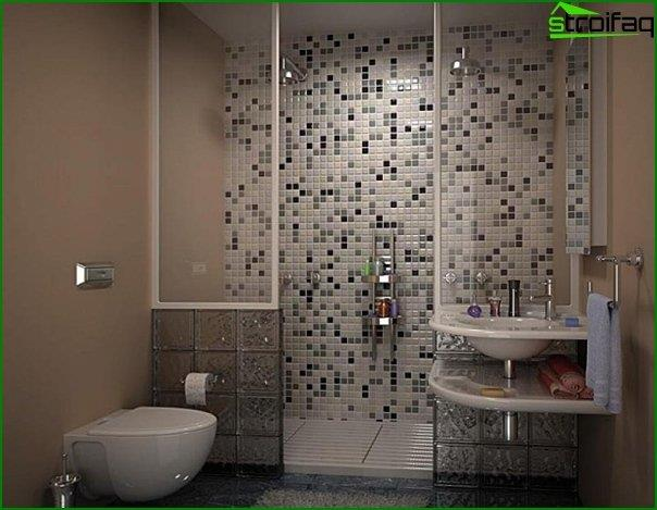Tiles in the bathroom - self-laying - 2