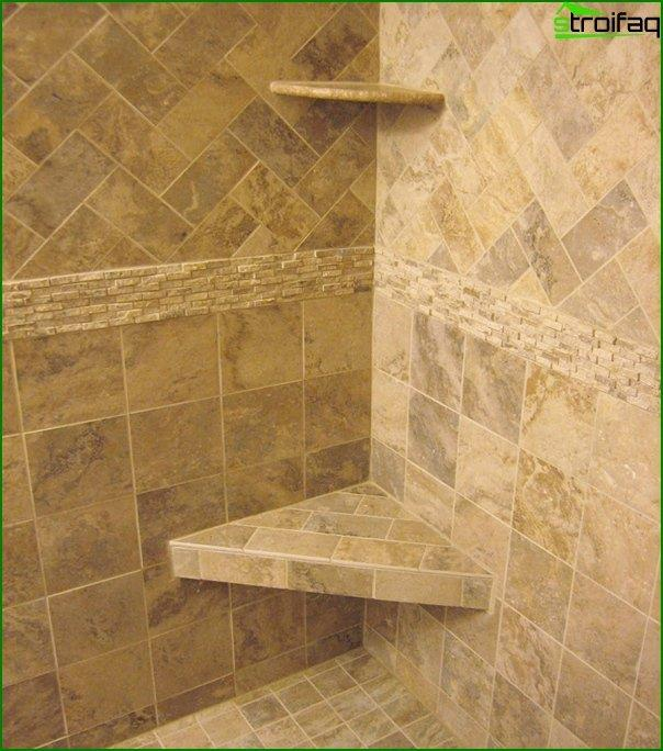 Tiles in the bathroom - self-laying - 3