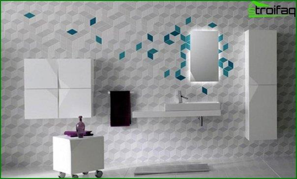 Do-it-yourself tile wall decoration - 2