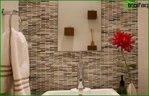 Do-it-yourself tile wall decoration - 3