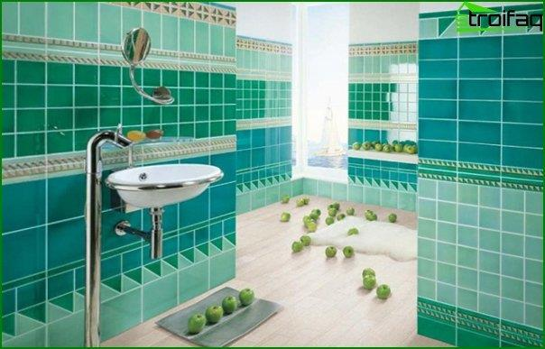 Do-it-yourself tile wall decoration - 4