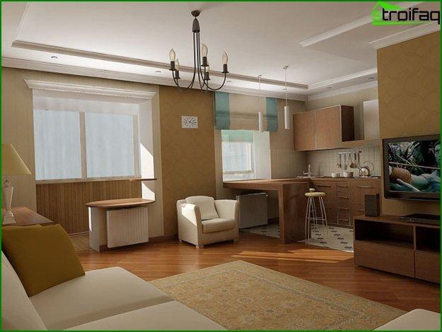 شقة من غرفة واحدة في خروتشوف 1