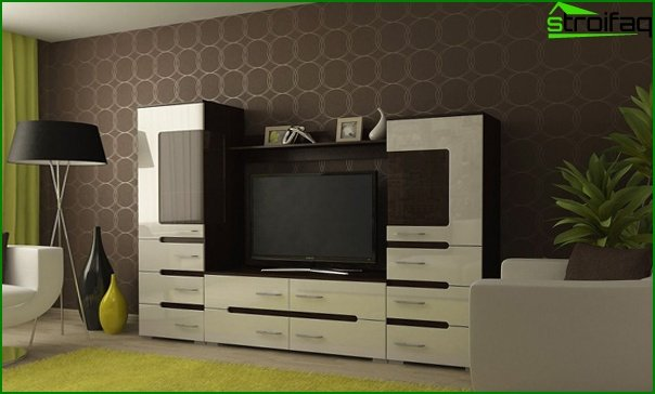 Living room furniture in a modern style (techno) - 1