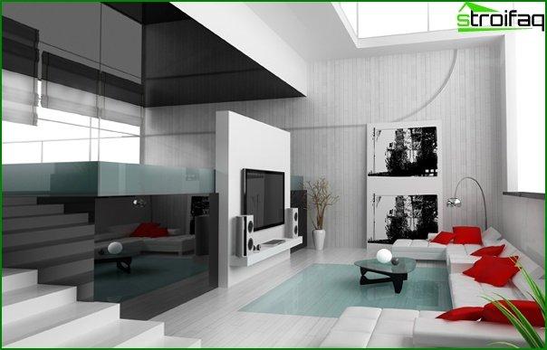 Living room furniture in a modern style (techno) - 5