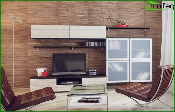 Living room in a modern style (modern furniture) - 2