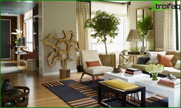 Furniture for a drawing room in a modern style (ecostyle) - 1
