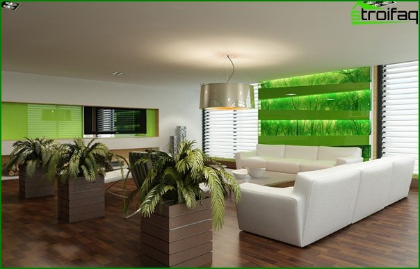Living room furniture in a modern style (eco style) - 2