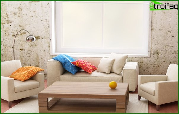 Living room furniture in a modern style (eco style) - 3