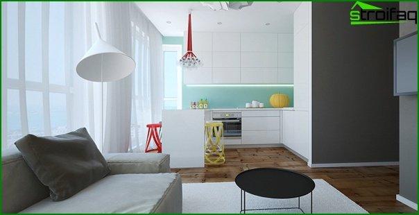 ستائر غرفة المعيشة - المطبخ - 07
