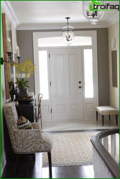 Фото дизайну прихожих в маленький коридор