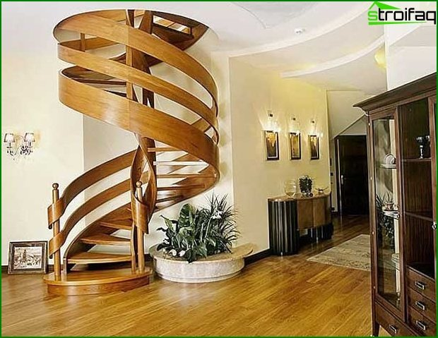 Photo of a spiral staircase