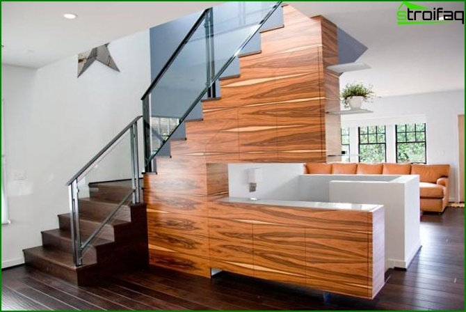 Styles of stairs to the second floor