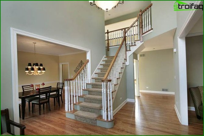 American style stairs to the second floor