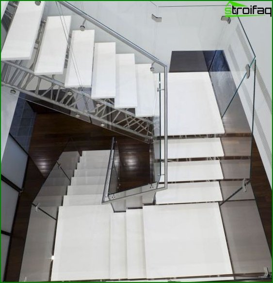 Stairs in a private house