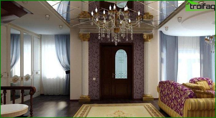 مرآة؟ السقف في غرفة المعيشة 5