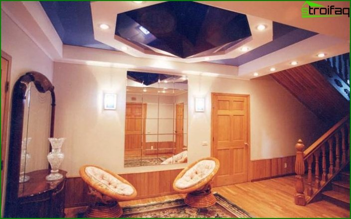 Stretch ceilings in the living room 4