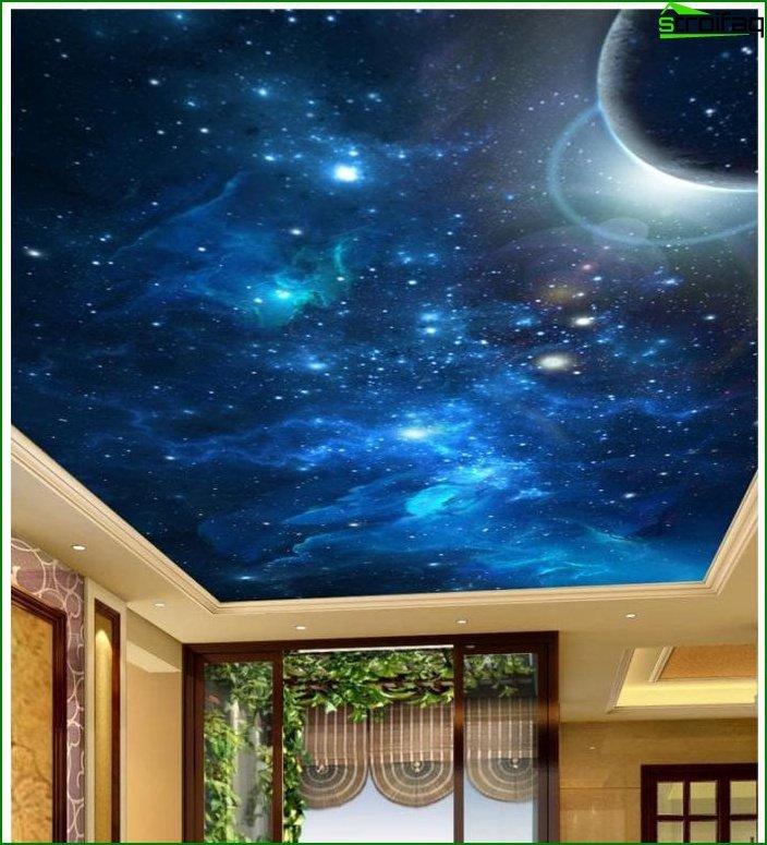 سقف الصورة في غرفة المعيشة 4