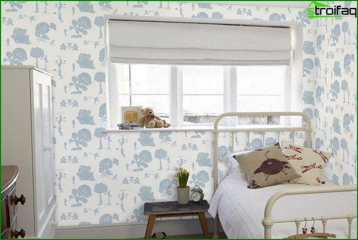 ¿Grandes? dibujo de papel tapiz en el interior de la habitación 4