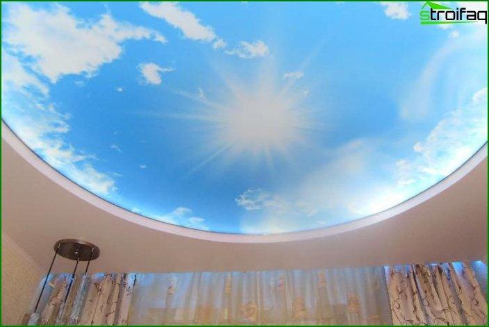 سقف الصورة في غرفة المعيشة 10
