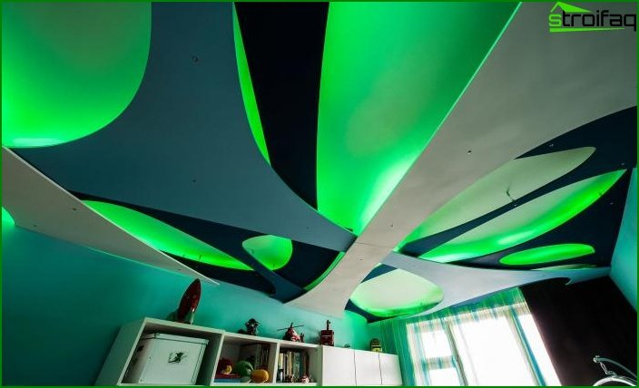 Ceiling with decorative panels 4