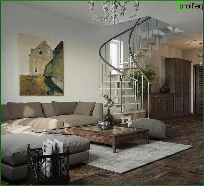 ثريات من الحديد المطاوع في داخل غرفة المعيشة 2