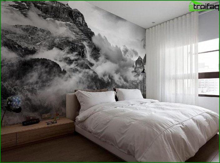 Mural en el dormitorio interior 1
