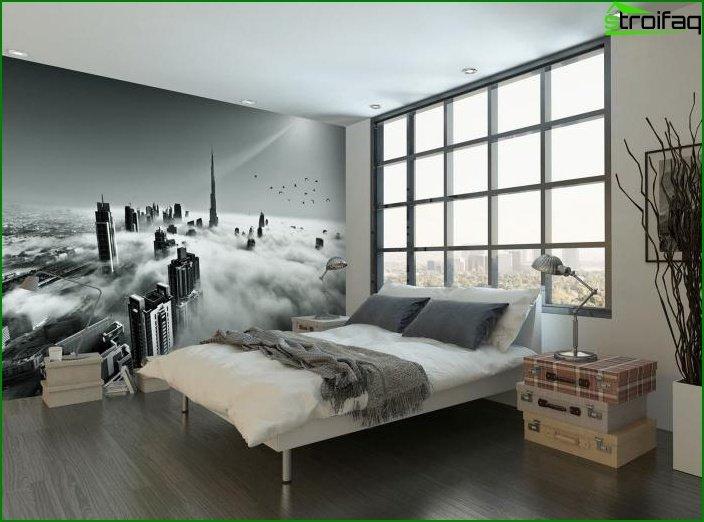 Mural en el dormitorio interior 3