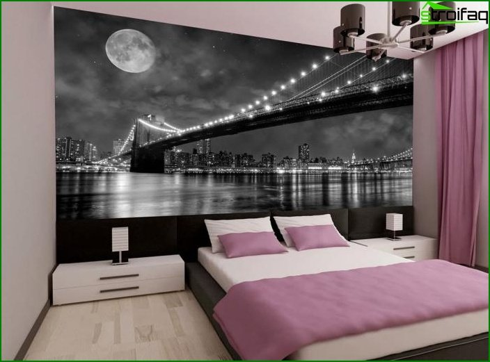 Wall mural in bedroom interior 5