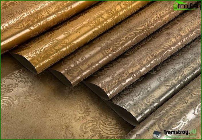 Papel tapiz de dormitorio de filamento metálico?