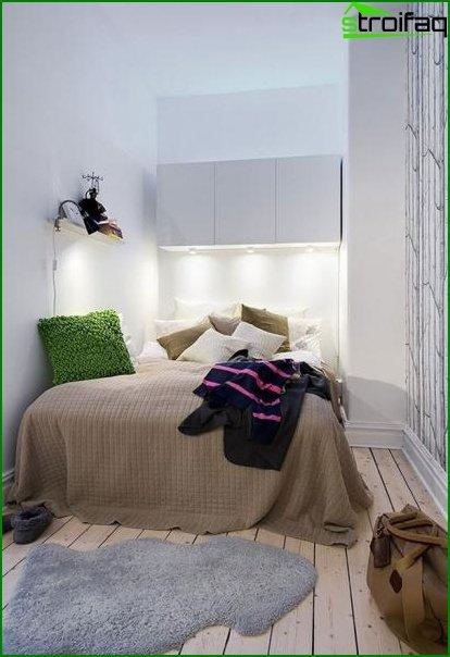 Características de diseño de una habitación pequeña sin ventanas 3
