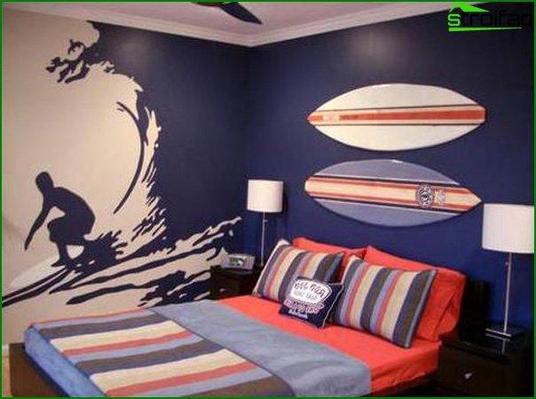 Diseño de una habitación pequeña 21