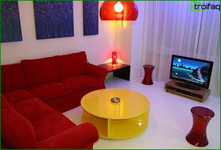 تصميم شقة استوديو في خروتشوف 1