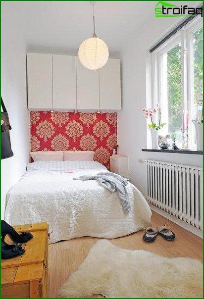 Interior de dormitorio pequeño - foto 3