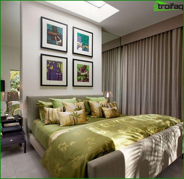 Interior de dormitorio pequeño - foto 4