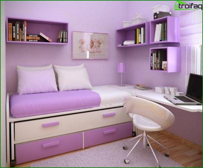 Interior de dormitorio pequeño - foto 7