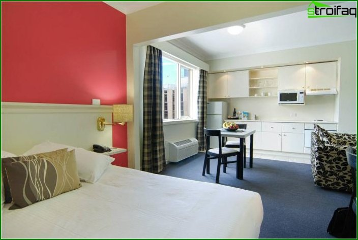 تصميم شقة من غرفة واحدة - الصورة 4