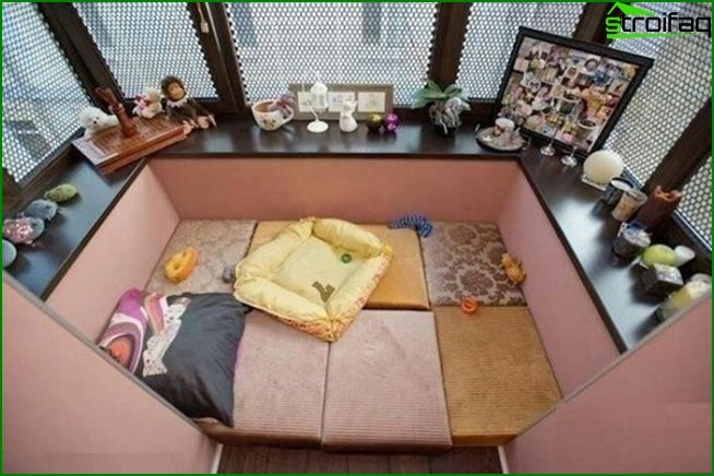 Diseño logia dormitorio 02