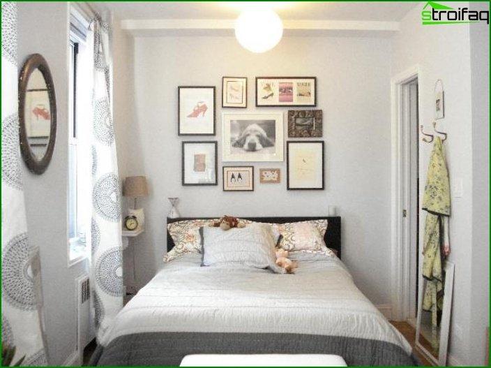 Dormitorio de diseño pequeño 5