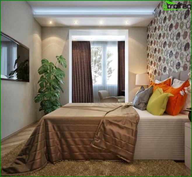 Dormitorio de diseño pequeño 9
