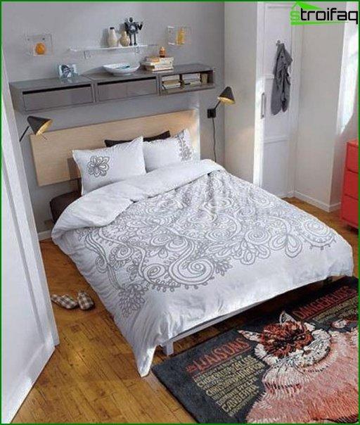 Dormitorio de diseño pequeño 11