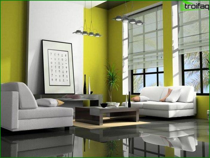 تصميم شقة من غرفة واحدة 10