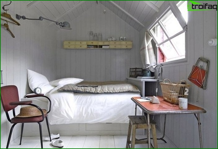Dormitorio de diseño pequeño 12