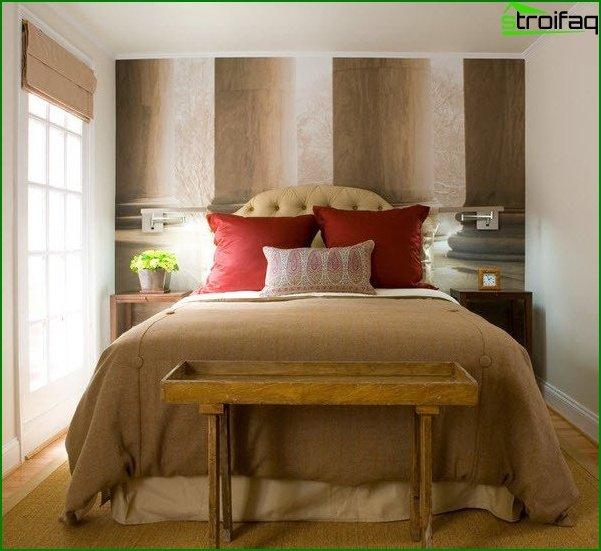 Dormitorio de diseño pequeño 15