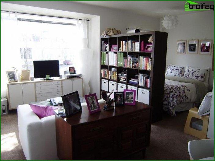 تصميم شقة من غرفة واحدة 13