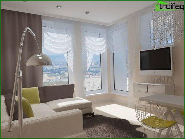 تصميم شقة استوديو 2