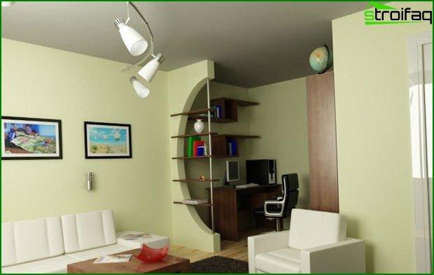 تصميم شقة استوديو 5