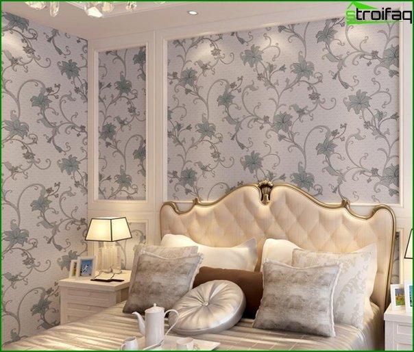 Tapeta z włókniny w sypialni - 1