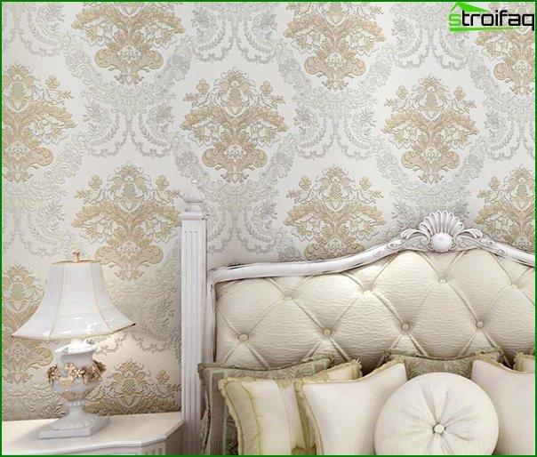 Tapeta z włókniny w sypialni - 2
