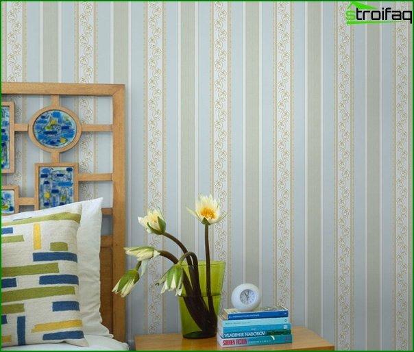 Tapeta z włókniny w sypialni - 3